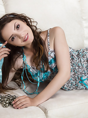 Amour Angels  Mika  Pussy, Brunettes, Legs, Teens, Shaved, Solo